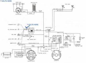 MF135 w Z145 Gas Engine  Wiring Diagram  TractorShed