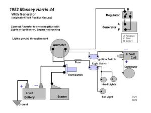 Massey Harris 22, Wiring Diagram  Yesterday's Tractors (112263)