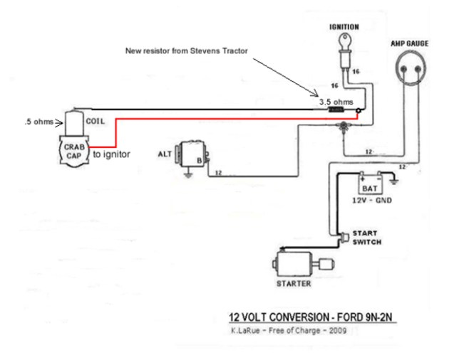 ford 9n 12 volt 1 wire wiring diagram ford wiring diagram
