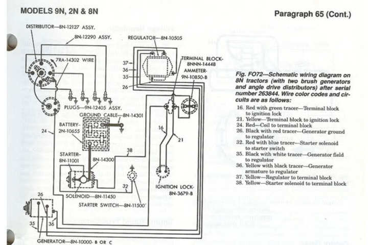 ford naa tractor wiring diagram
