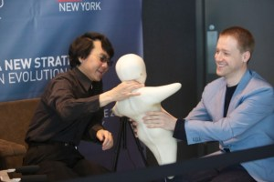 Dmitry Itskov with Hiroshi Ishiguro at the Global Future 2045 International Congress