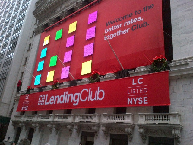 The New York Stock Exchange on Lending Club listing day