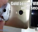 Gold Lenovo VIBE P1 in 30 seconds