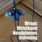 Wraps Wristband Headphones Unboxing