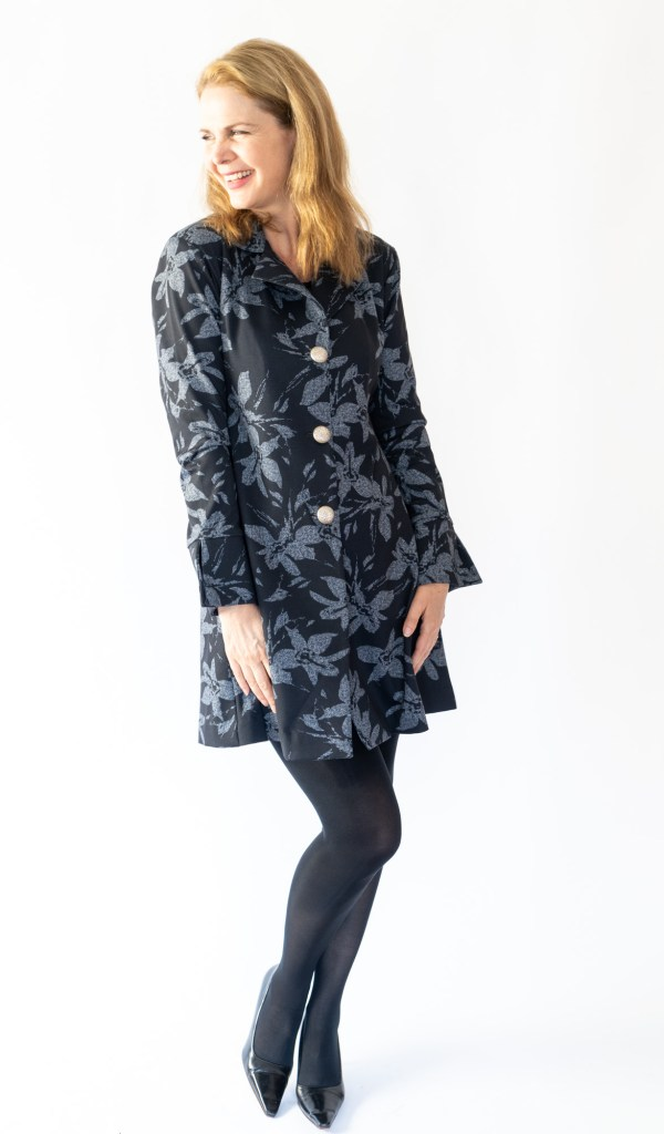Tracy Gold Collection black and grey coat dress dress