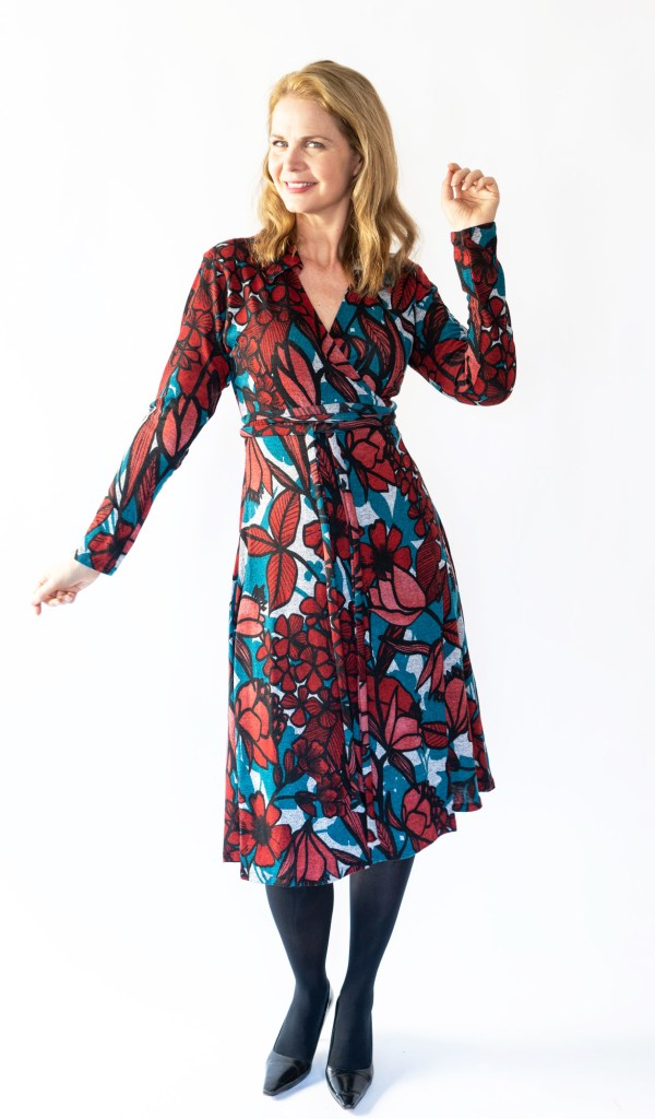 Tracy Gold Collection knit wrap dress