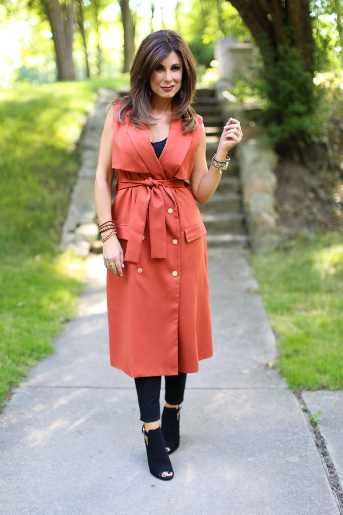 Sleeveless Trench is Perfect for Transitioning to Fall