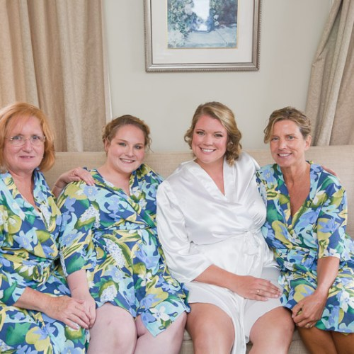 bridal party, happy, getting ready, robe picture, ocean cliff wedding, wedding, tracy jenkins photography, wedding photography, beach wedding, newport wedding, ocean cliff, rhode island