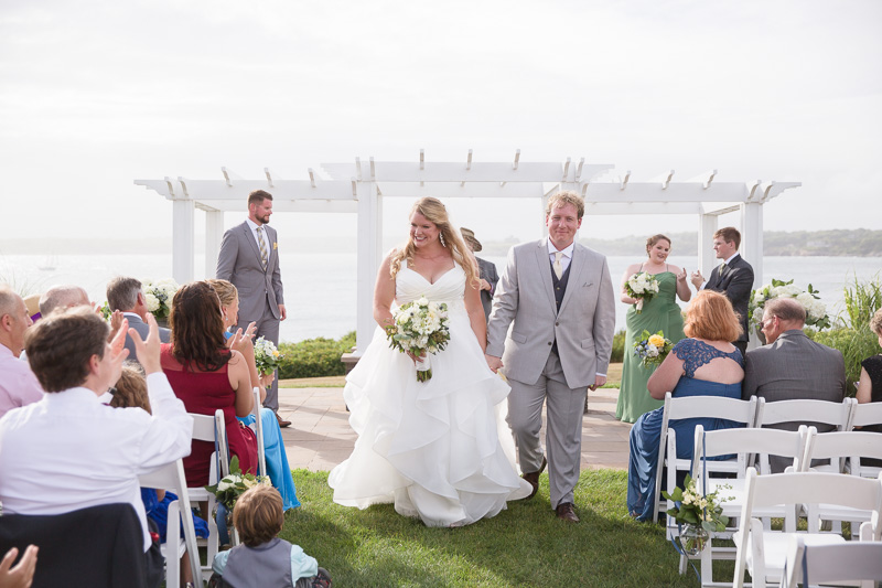 recessional, ceremony, wedding ceremony, ocean cliff wedding, wedding, tracy jenkins photography, wedding photography, beach wedding, newport wedding, ocean cliff, rhode island
