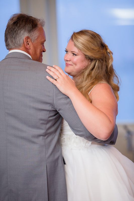 father daughter dance, wedding dance, parent dance, wedding reception, reception, ocean cliff wedding, wedding, tracy jenkins photography, wedding photography, beach wedding, newport wedding, ocean cliff, rhode island
