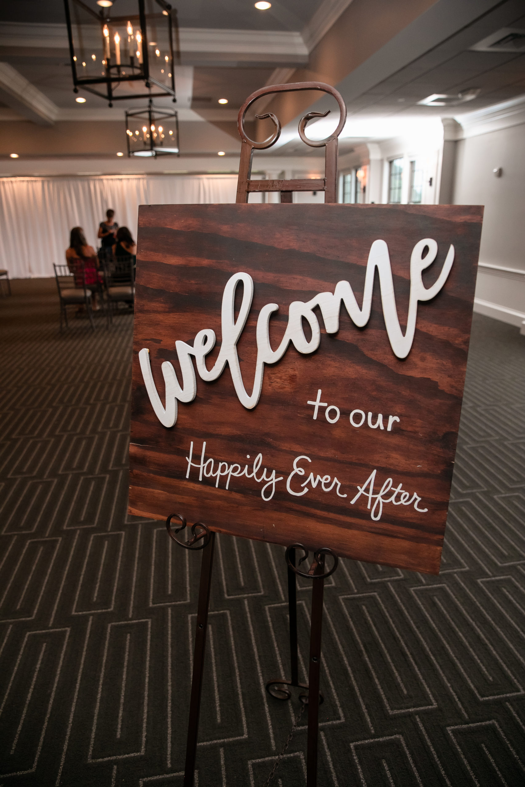 Welcome, sign, Happily ever after, Tracy Jenkins Photography, Harbor Lights, Warwick, Rhode Island, RI, New England, Wedding, Photography