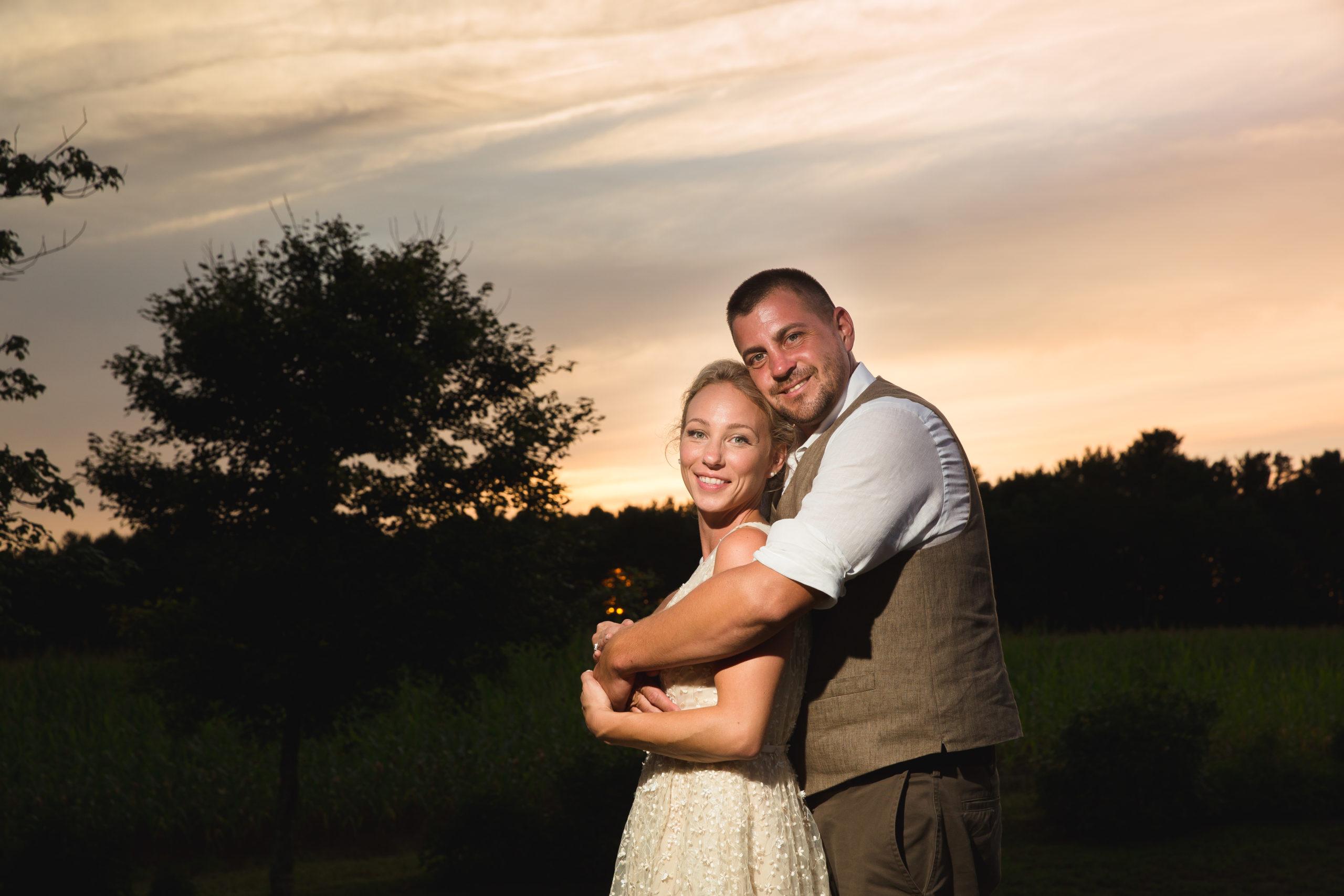 Coventry, Rhode Island, RI, Backyard Wedding, forest, earthy, wedding, tracy jenkins photography, wedding photographer, ri wedding photographer, Rhode Island Wedding photographer, sunset, couple photos