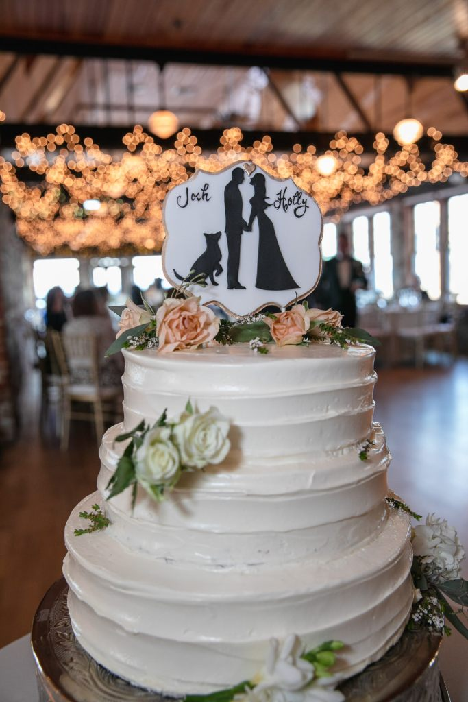 Wedding, Narragansett Towers, The Towers, Narragansett, Rhode Island, RI, Tracy Jenkins photography, RI wedding photographer, Rhode Island wedding photographer, wedding cake, wedding details, dog cake topper