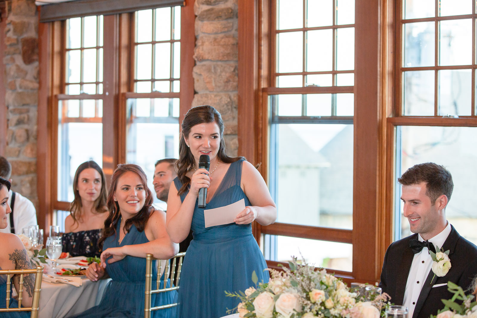Wedding, Narragansett Towers, The Towers, Narragansett, Rhode Island, RI, Tracy Jenkins photography, RI wedding photographer, Rhode Island wedding photographer, wedding reception, toast