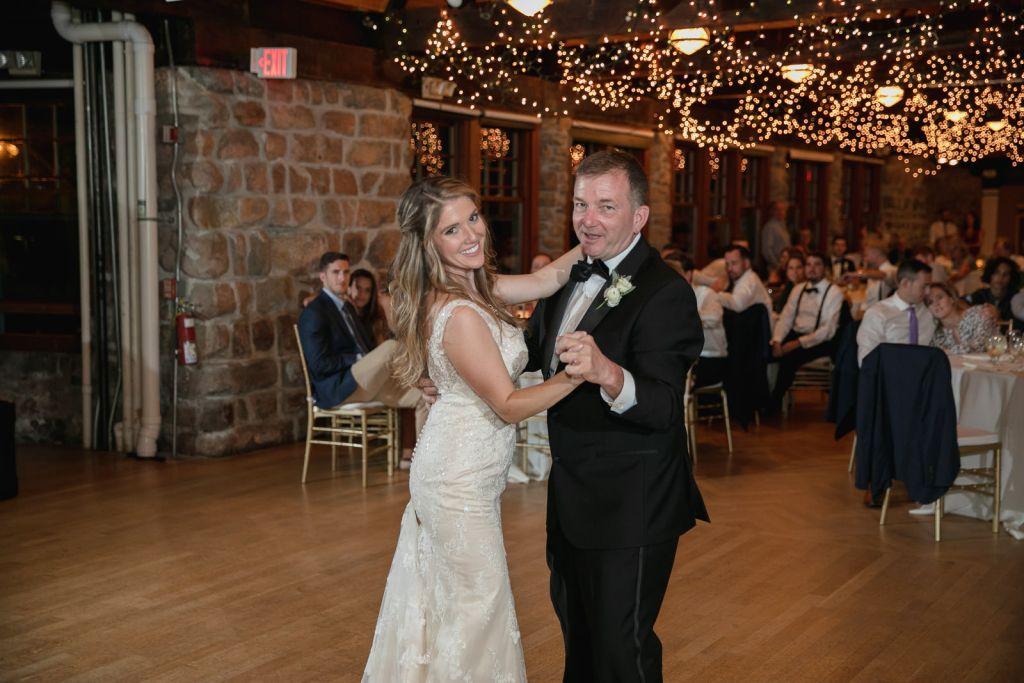 Wedding, Narragansett Towers, The Towers, Narragansett, Rhode Island, RI, Tracy Jenkins photography, RI wedding photographer, Rhode Island wedding photographer, father daughter dance, bride