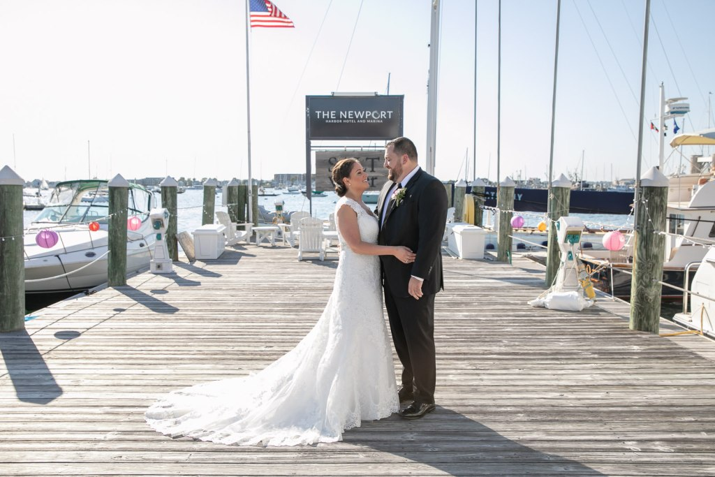 Newport Harbor Hotel, Newport harbor hotel and Marina, Newport, rhode island, beach wedding, harbor wedding, coastal wedding, wedding, Tracy jenkins photography, RI wedding photographer, Rhode Island wedding photographer, couple photos, bride, groom, docks