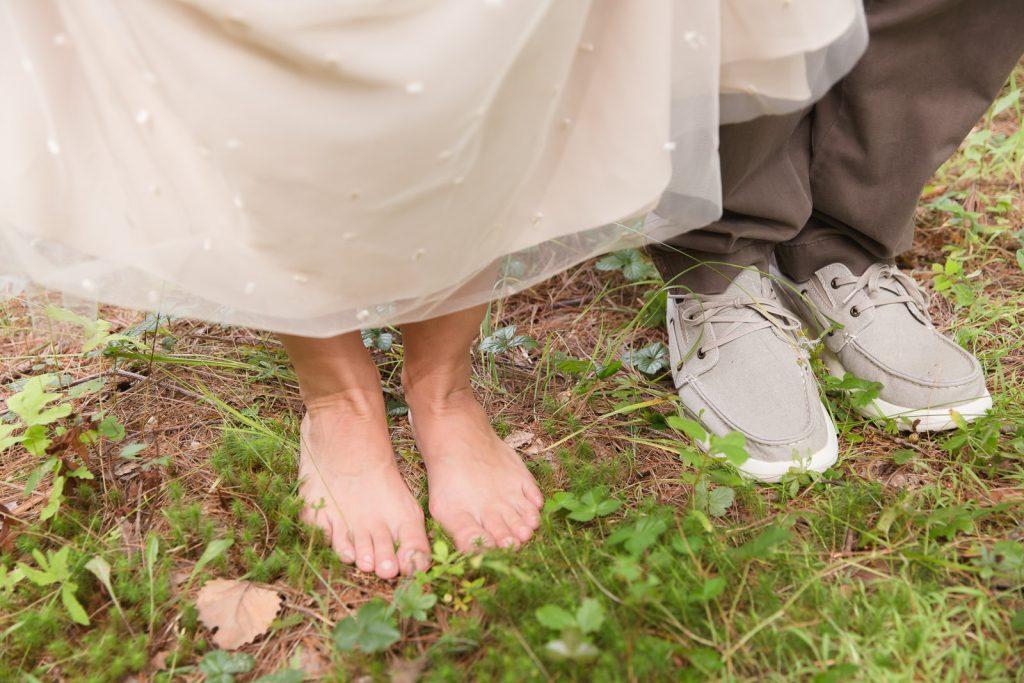 Coventry, Rhode Island, RI, Backyard Wedding, forest, earthy, wedding, tracy jenkins photography, wedding photographer, ri wedding photographer, Rhode Island Wedding photographer, barefoot in the woods, couple photos