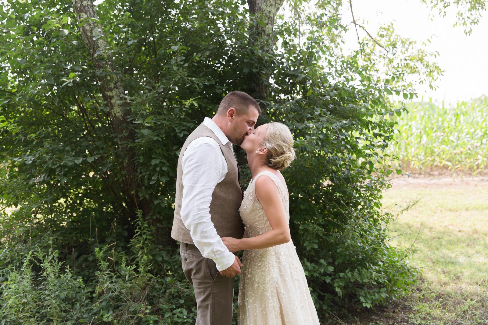 Coventry, Rhode Island, RI, Backyard Wedding, forest, earthy, wedding, tracy jenkins photography, wedding photographer, ri wedding photographer, Rhode Island Wedding photographer, first look, bride, groom, ivory dress