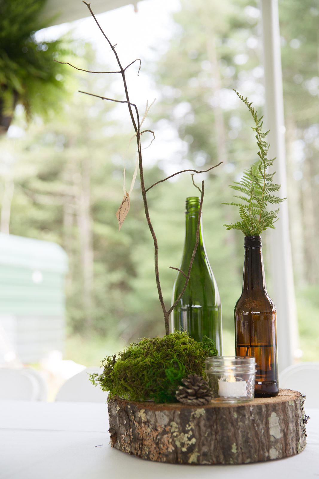 Coventry, Rhode Island, RI, Backyard Wedding, forest, earthy, wedding, tracy jenkins photography, wedding photographer, ri wedding photographer, Rhode Island Wedding photographer, nature center piece, wedding in the woods