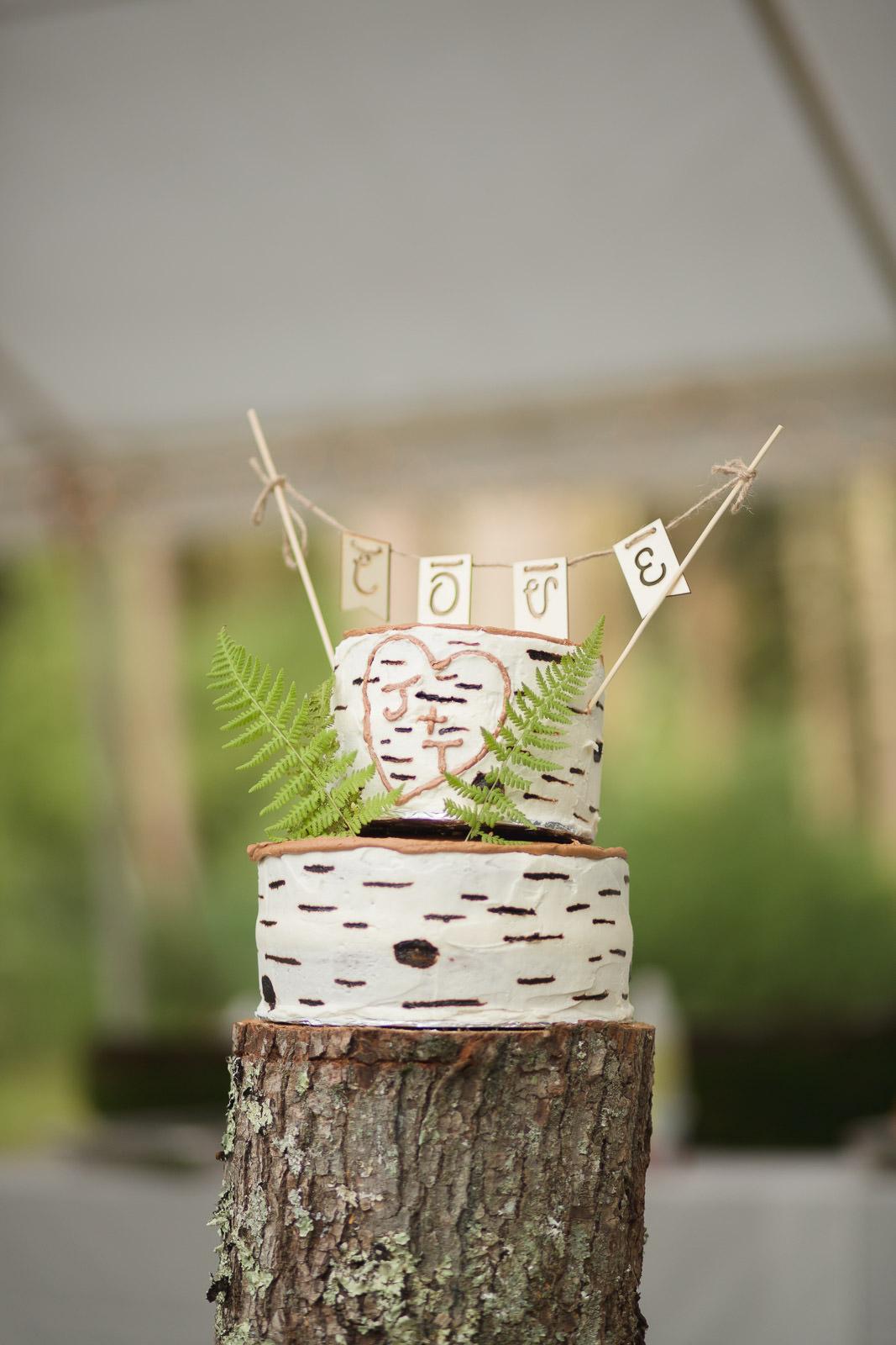 Coventry, Rhode Island, RI, Backyard Wedding, forest, earthy, wedding, tracy jenkins photography, wedding photographer, ri wedding photographer, Rhode Island Wedding photographer, wedding cake