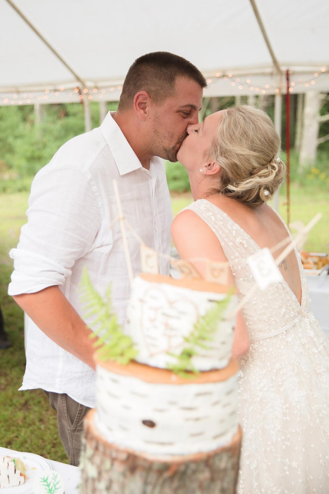 Coventry, Rhode Island, RI, Backyard Wedding, forest, earthy, wedding, tracy jenkins photography, wedding photographer, ri wedding photographer, Rhode Island Wedding photographer, cake cutting
