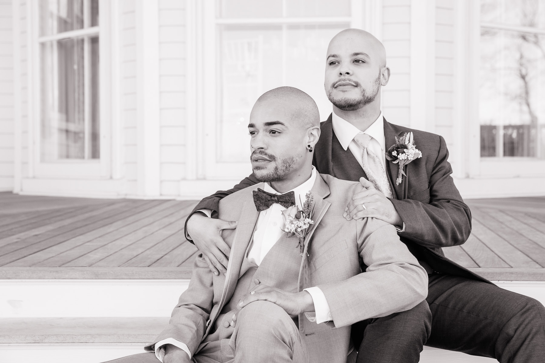 Eisenhower House, Newport, Rhode Island, Tracy Jenkins Photography, wedding, LGBTQ+, LGBT, Gay, Inclusive, Photography, Wedding photography, groom, grooms, couple portrait