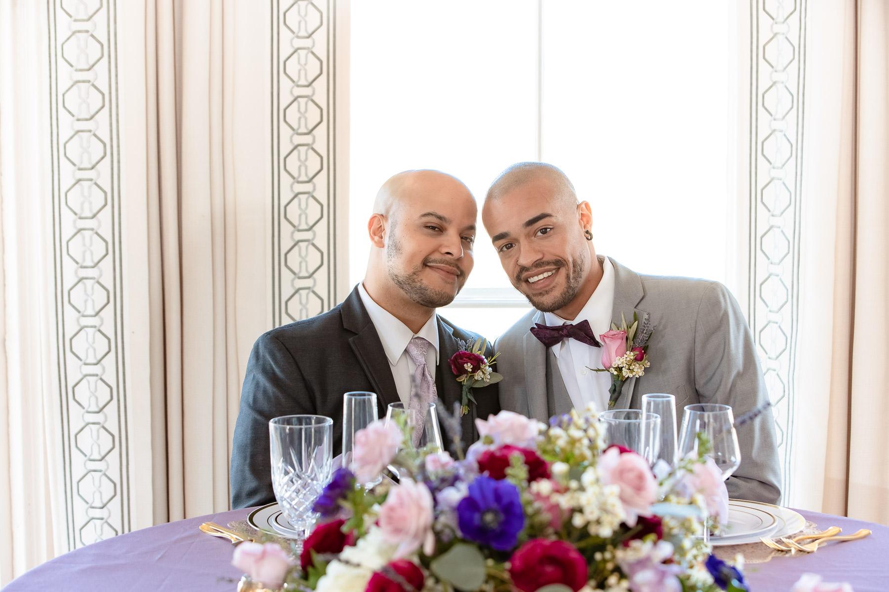 Eisenhower House, Newport, Rhode Island, Tracy Jenkins Photography, wedding, LGBTQ+, LGBT, Gay, Inclusive, Photography, Wedding photography, grooms, groom, sweetheart table