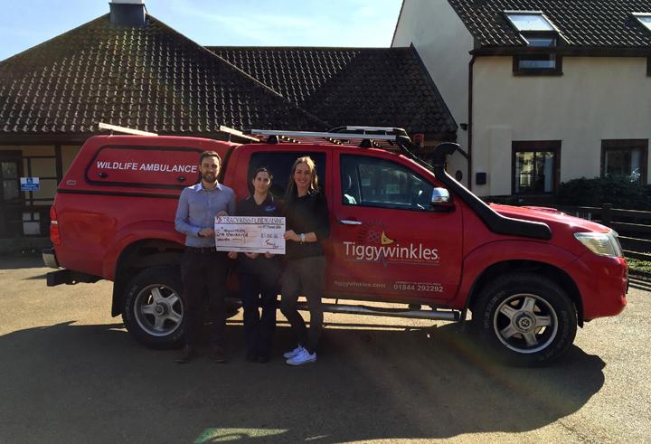 Tracy Kiss Donates £1,000 To St. Tiggywinkles The Wildlife Hospital Trust