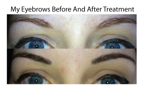 My Eyebrows Before And After Having Them Tattoo'd