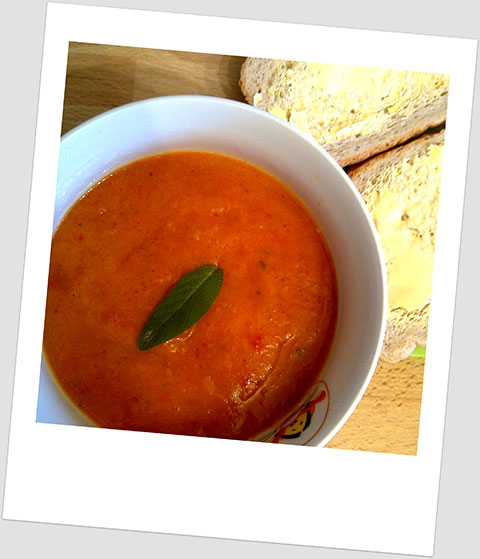 Day 10 Lunch: Red Lentil, Chilli, Sage & Carrot Soup