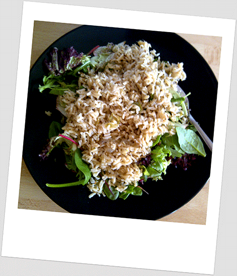 Day 5 Breakfast: Brown Rice And Baby Leaf Bistro Salad