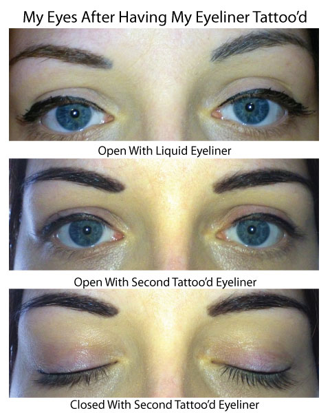 My Eyes Before And After Having My Eyeliner Cosmetically Tattooed
