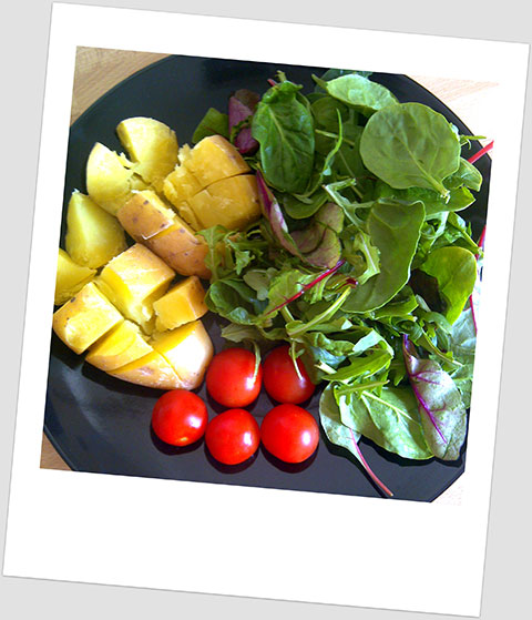 Brunch Day 18: Jacket Postato, Cherry Tomatoes & Baby Leaf Salad