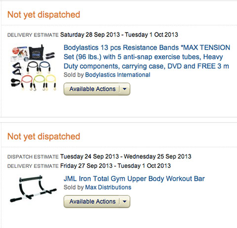 Some Pieces Of Equipment I Purchased Today For My p90x Workout