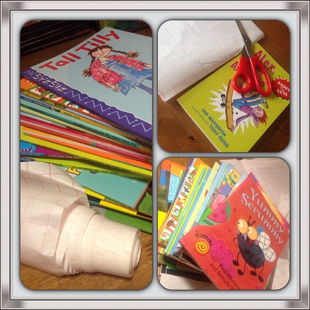 I Volunteered To Help At Millie's School And Was Asked To Cover Books With Plastic