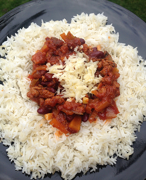 Quorn Mince Vegetarian Chilli With White Mixed Rice