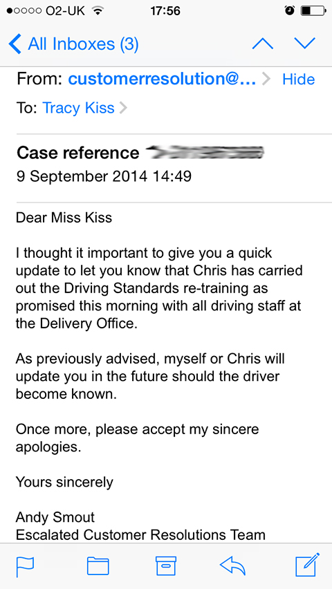 I Received This Royal Mail Follow Up Email