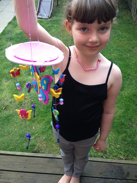 Millie Made A Beautiful Butterfly Mobile For Her Bedroom