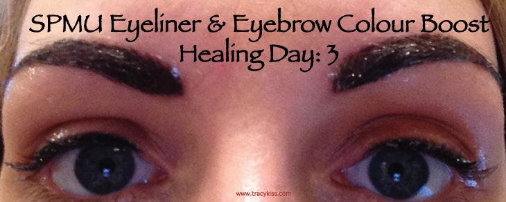 SPMU Eyebrow & Eyeliner Colour Boost Healing Day 3