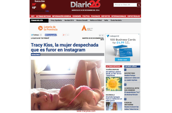Tracy Kiss In Diario 26