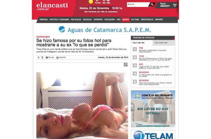 Tracy Kiss In Elancasti.com.ar