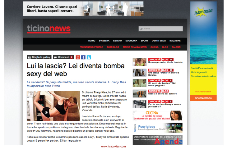 Tracy Kiss In Ticino News