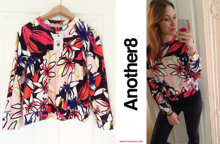 Another8 Latoya Printed Floral Scuba Jumper
