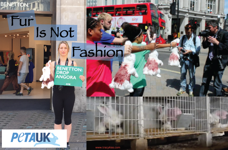 PETA Peaceful Protest For The Ban Of Angora Fur In Fashion