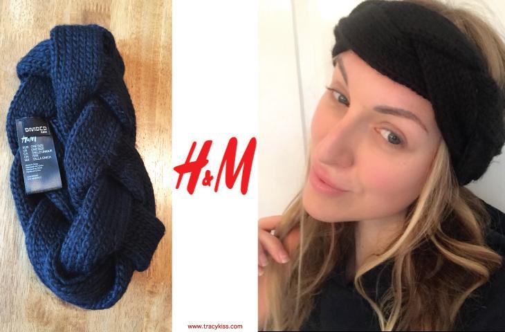 H&M Black Braided Headband