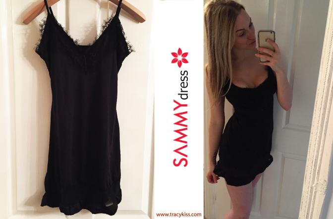 Sammy Dress Black Voile & Lace Spaghetti Strap Mini