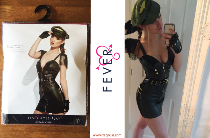 Fever Role-Play Wet Look Military Dress
