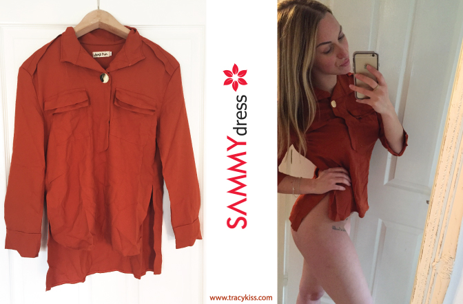 Sammy Dress Copper Long Sleeve Turn Down Colour Blouse