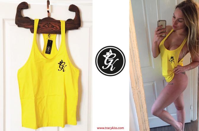 Gym King Yellow Stringer Vest