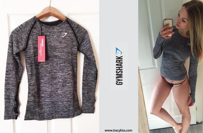 e1fd1c4a8 Gymshark Charcoal Seamless Long-Sleeve T-Shirt - Tracy Kiss